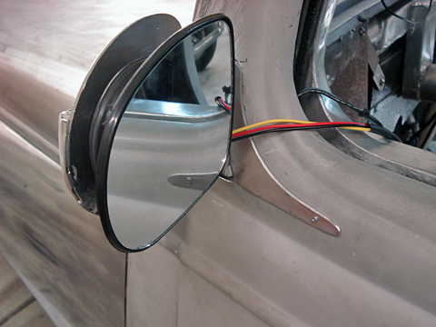 Mirror motor and wiring